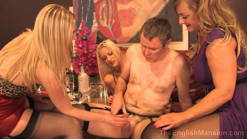 The Girls Office Xmas Party – Lady Nina Birch, Miss Eve Harper And Mistress Nikki. TheEnglishMansion.com (478 Mb)