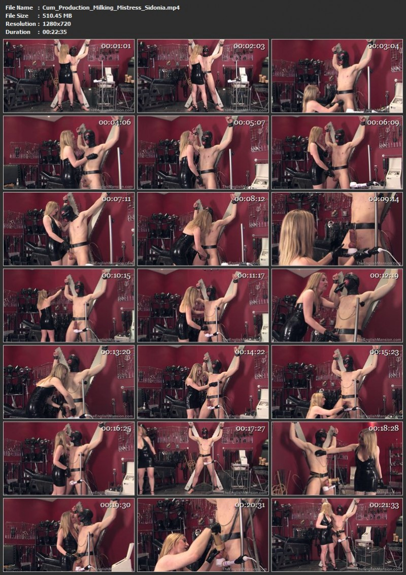 Cum Production Milking – Mistress Sidonia. TheEnglishMansion.com (510 Mb)