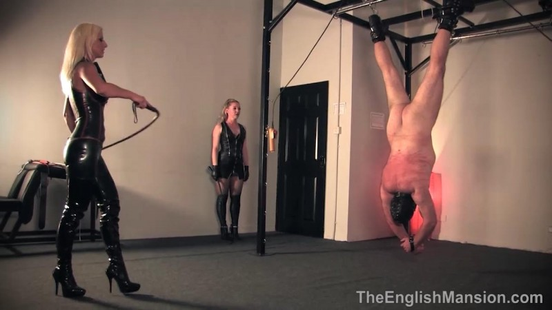 Suspended Inverted Whipped – Mistress Sidonia And Mistress Vixen. TheEnglishMansion.com (291 Mb)