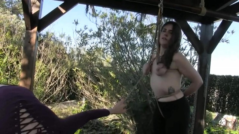 Little Red Girl suspended by her Tits (bip043). Sep 02 2017. Breastsinpain.com (374 Mb)