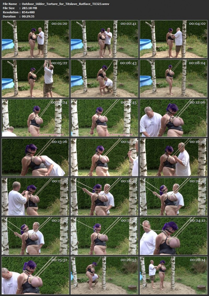 Outdoor Udder Torture for Titslave Ratface (TX323). Jun 24 2017. Toaxxx.com (283 Mb)