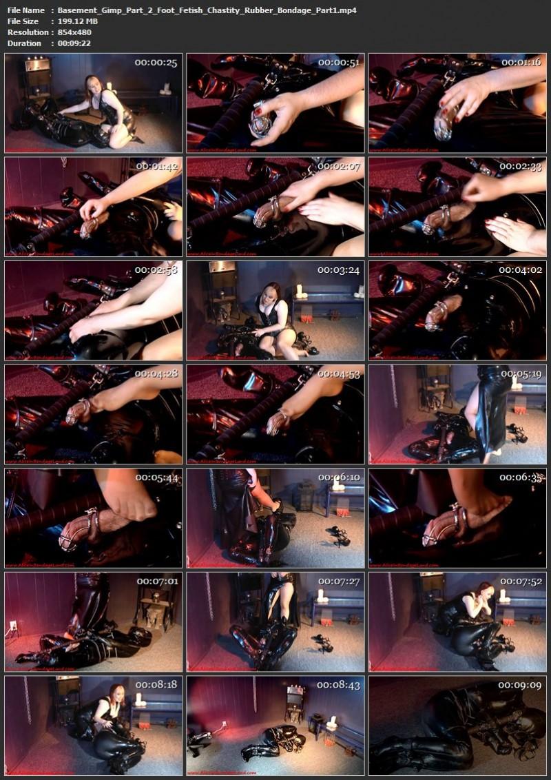 Basement Gimp Part 2 Foot Fetish Chastity Rubber Bondage. Jul 06 2015. AliceInBondageLand.com (319 Mb)