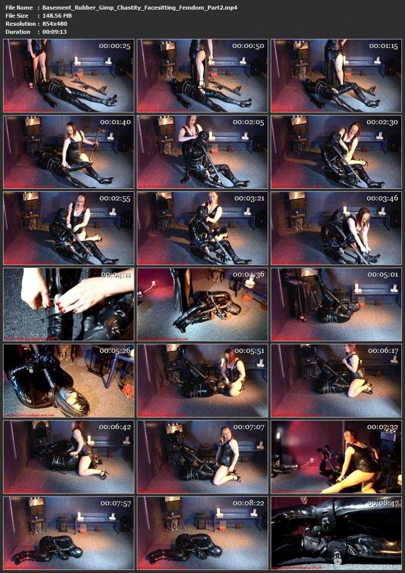 Basement Rubber Gimp – Chastity Facesitting Femdom. Jun 29 2015. AliceInBondageLand.com (858 Mb)
