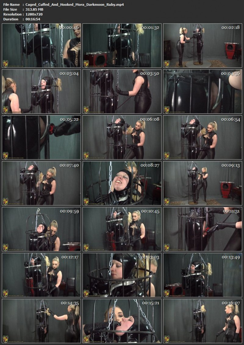 Caged, Cuffed And Hooked – Mora Darkmoon, Ruby. Dec 16 2016. Houseofgord.com (313 Mb)