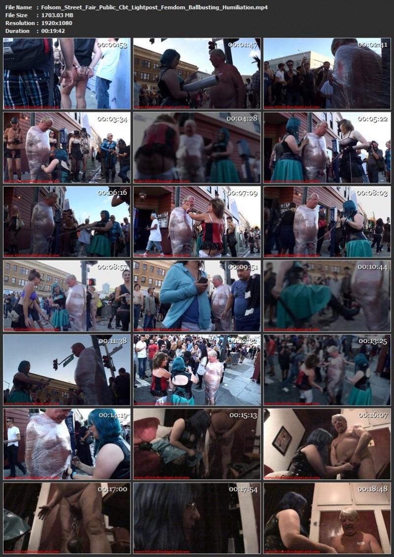 Folsom Street Fair Public Cbt Lightpost Femdom Ballbusting Humiliation. Aug 31 2015. AliceInBondageLand.com (1703 Mb)