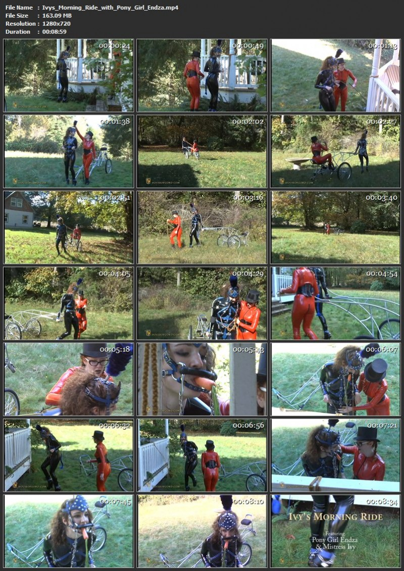 Ivy's Morning Ride with Pony Girl Endza. Oct 31 2014. Houseofgord.com (163 Mb)