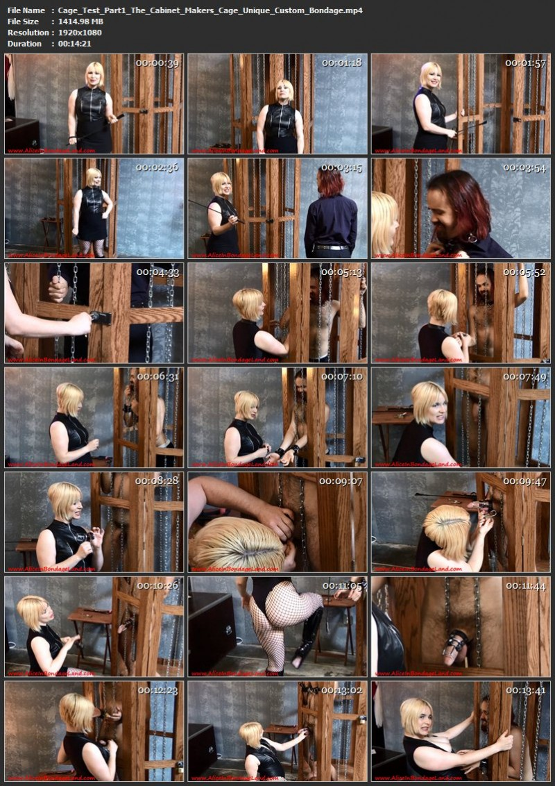 Cage Test Part 1 – The Cabinet Makers Cage – Unique Custom Bondage. May 02 2017. AliceInBondageLand.com (1414 Mb)