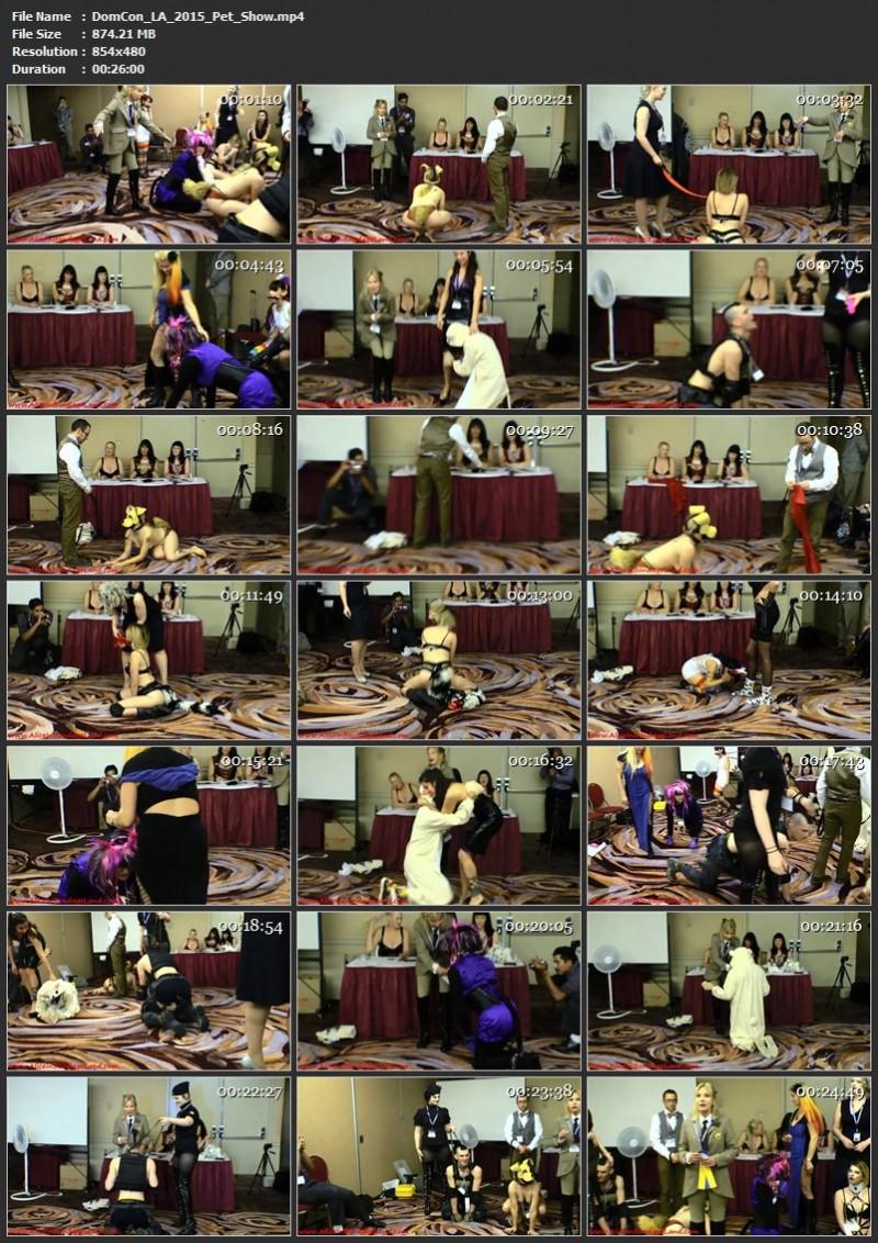 DomCon LA 2015 – Pet Show. AliceInBondageLand.com (874 Mb)
