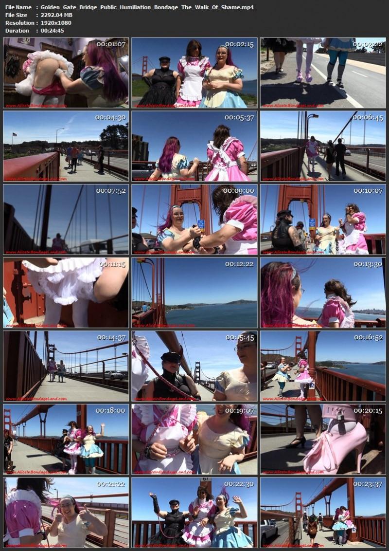 Golden Gate Bridge Public Humiliation Bondage – The Walk Of Shame. Aug 21 2017. AliceInBondageLand.com (2292 Mb)