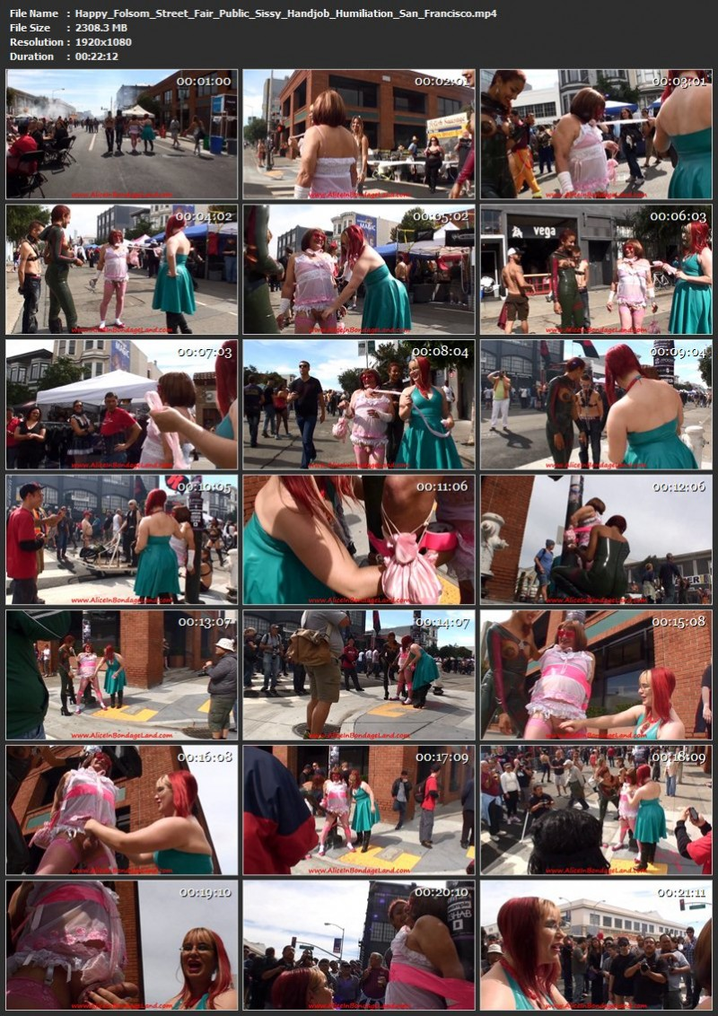 Happy Folsom Street Fair – Public Sissy Handjob Humiliation San Francisco. Sep 15 2017. AliceInBondageLand.com (2308 Mb)