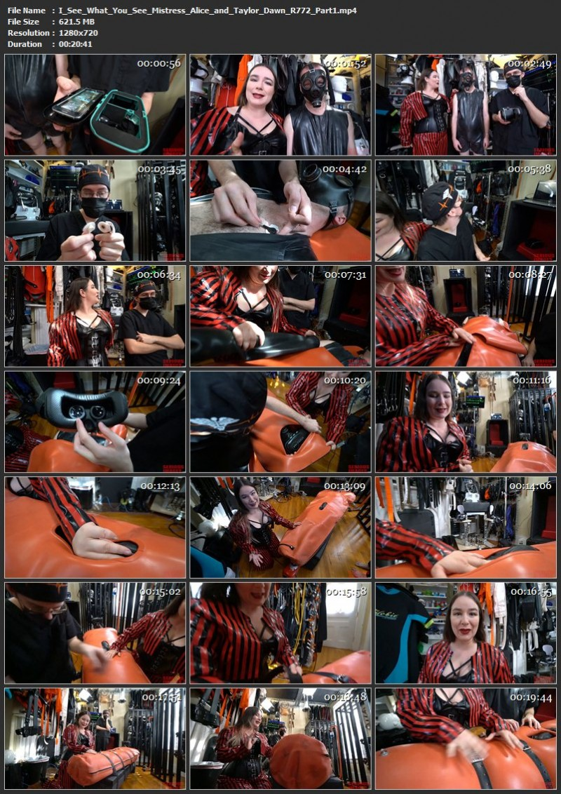 I See What You See – Mistress Alice and Taylor Dawn (R772). Oct 23 2017. Seriousimages.com (1193 Mb)
