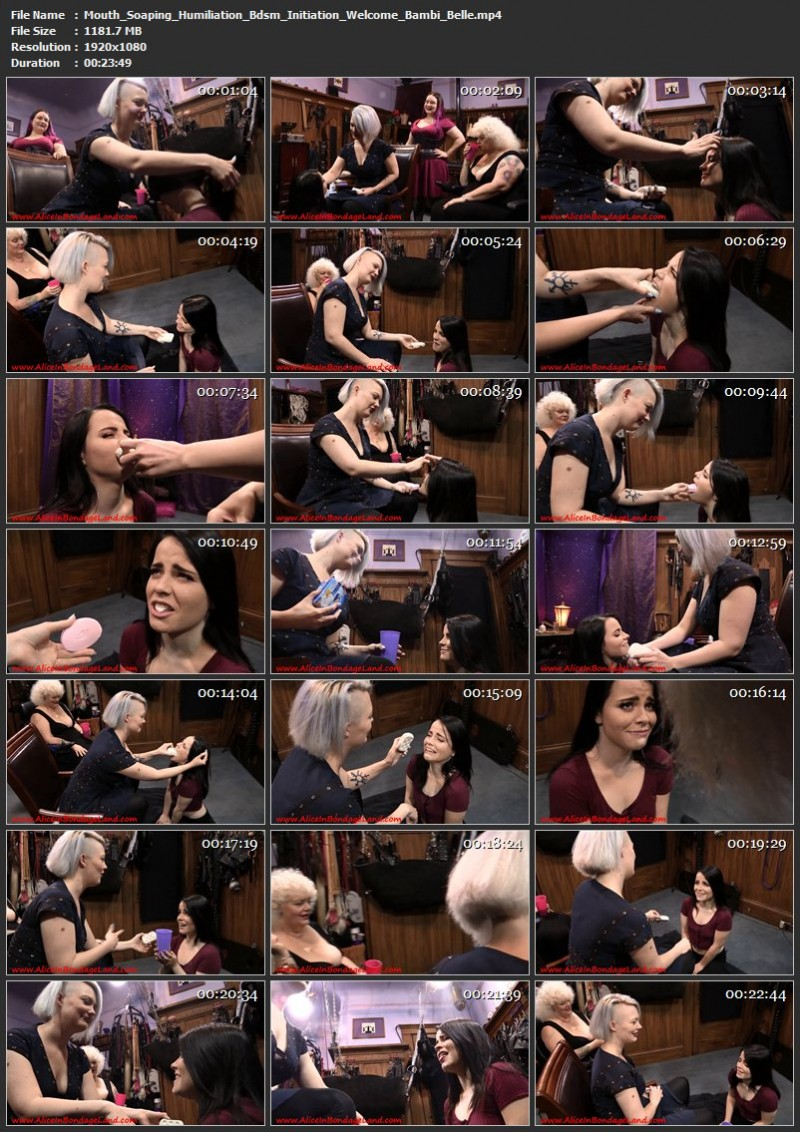 Mouth Soaping Humiliation Bdsm Initiation – Welcome Bambi Belle. Jul 28 2017. AliceInBondageLand.com (1181 Mb)