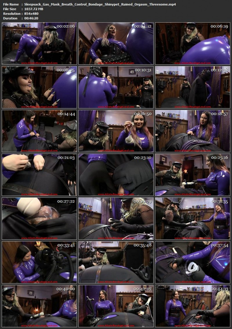Sleepsack Gas-Mask Breath Control Bondage – Shinypet Ruined Orgasm Threesome. Oct 01 2017. AliceInBondageLand.com (1037 Mb)
