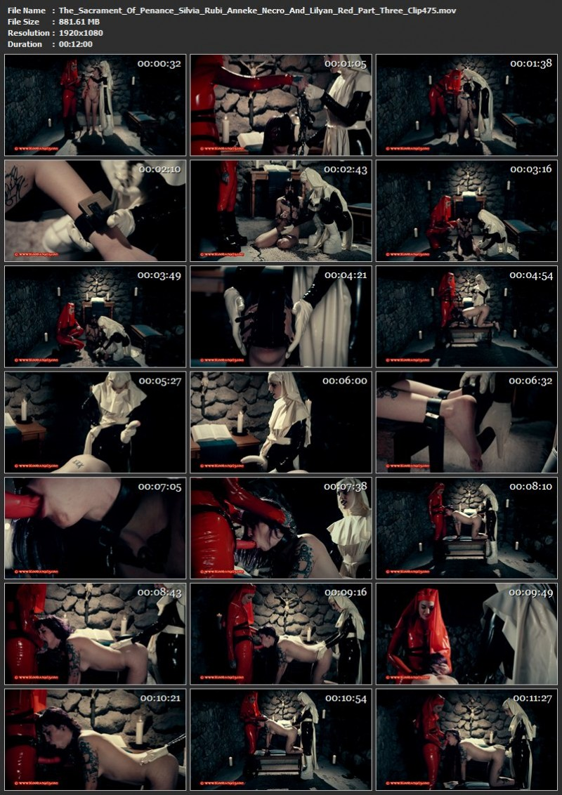The Sacrament Of Penance - Silvia Rubi, Anneke Necro And Lilyan Red Part Three (Clip 475). May 25 2017. Bloodangels.com (881 Mb)