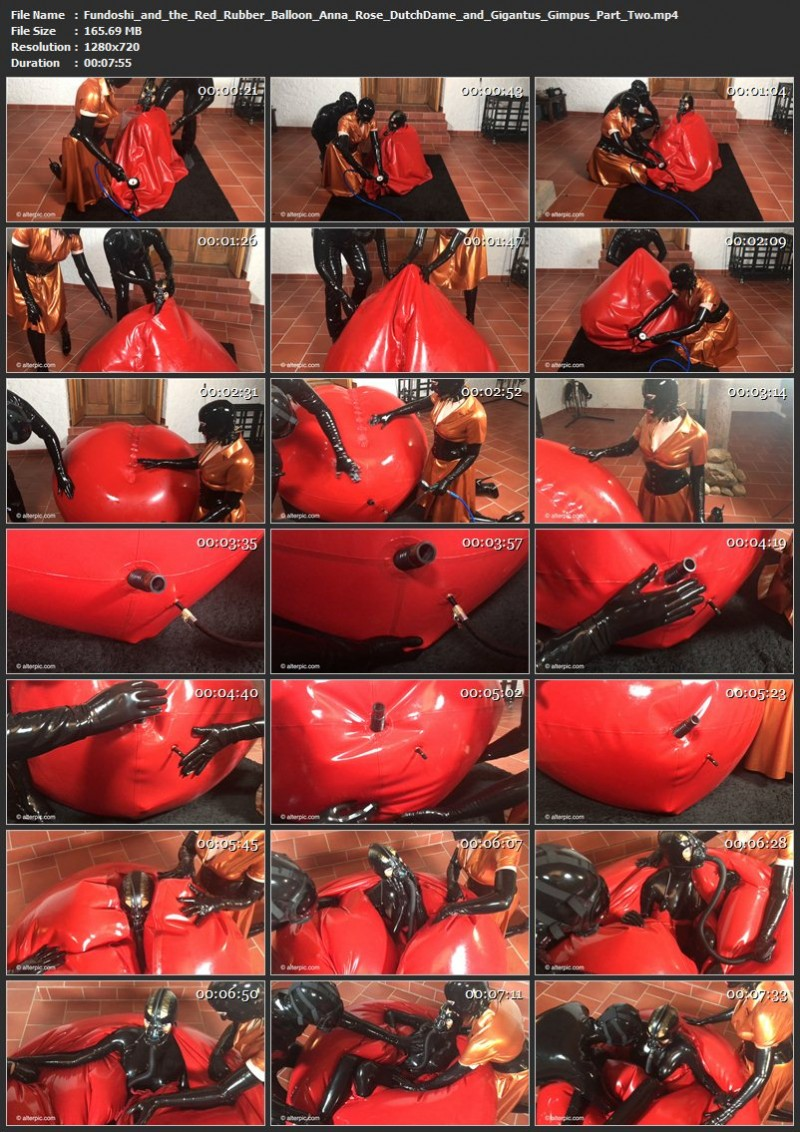 Fundoshi and the Red Rubber Balloon – Anna Rose, DutchDame and Gigantus Gimpus Part Two. AlterPic.com (165 Mb)