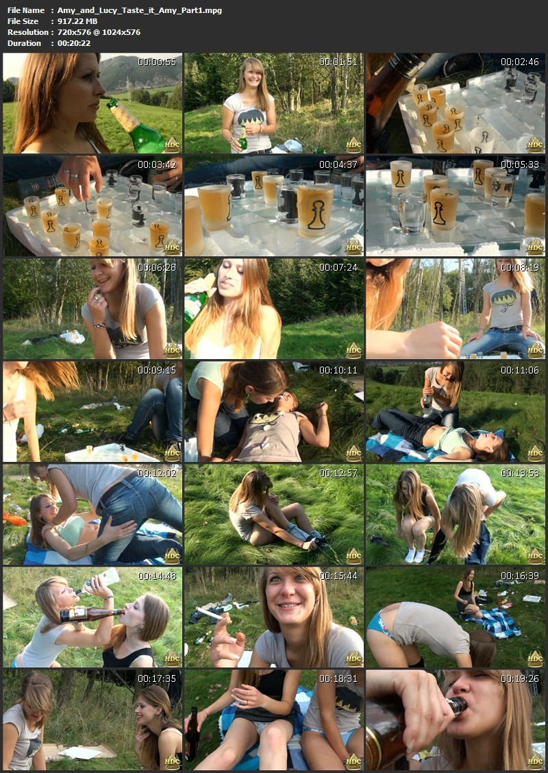 Amy and Lucy – Taste it Amy. HotDrinkingChicks.com (2525 Mb)