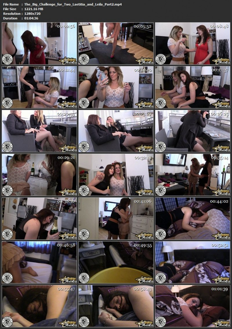 The Big Challenge for Two – Laetitia and Leila. HotDrinkingChicks.com (2422 Mb)