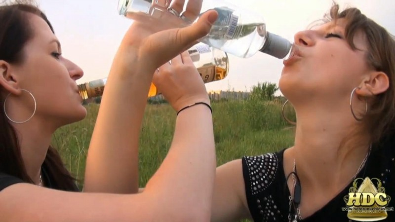 Two Crazy Drunk Girls In Public. HotDrinkingChicks.com (985 Mb)