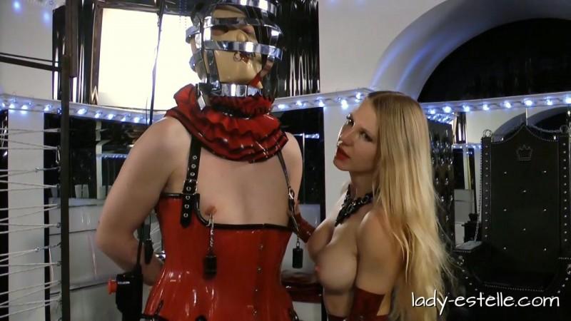 Lady Estelle – The Cock Pillory. Dominated-men.com (321 Mb)