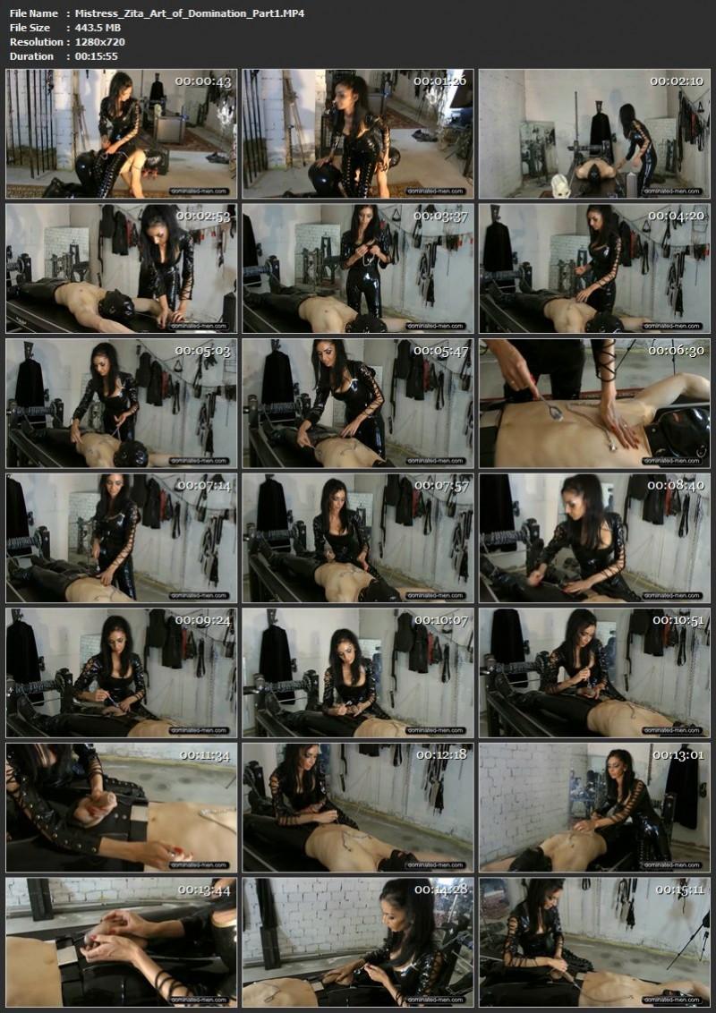 Mistress Zita – Art of Domination. Dominated-men.com (735 Mb)