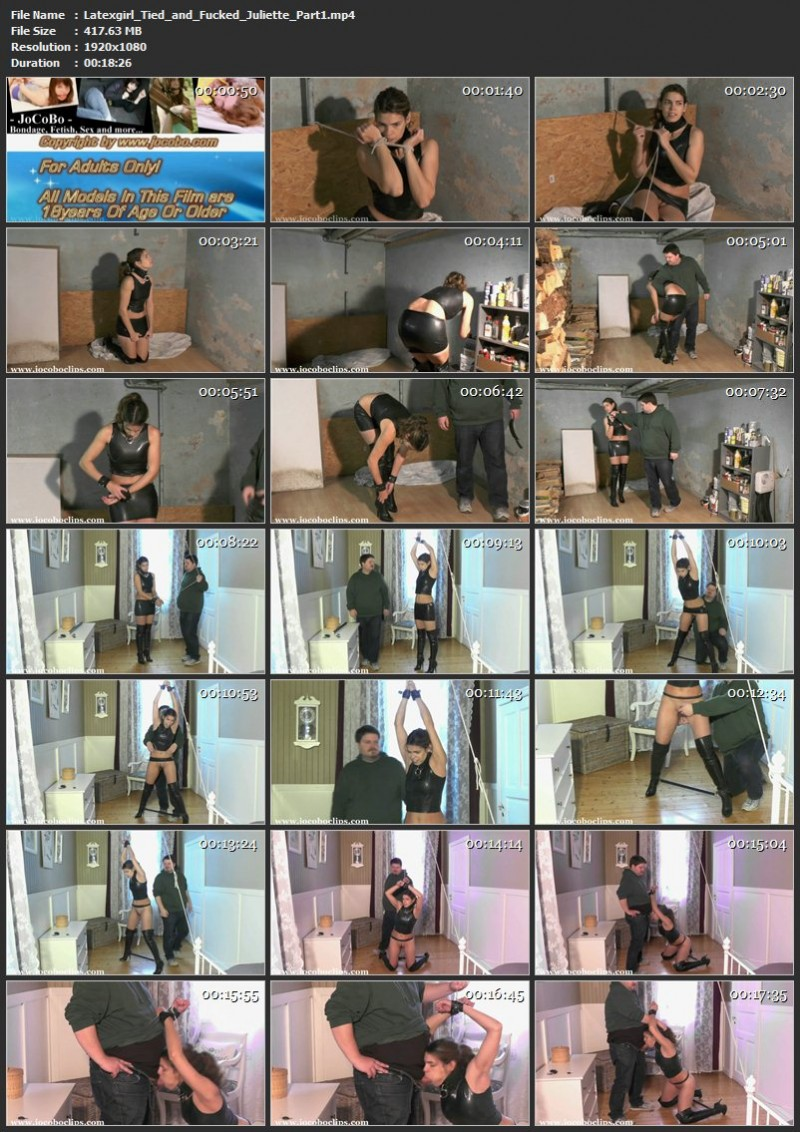 Latexgirl Tied and Fucked – Juliette. Jocoboclips.com (892 Mb)