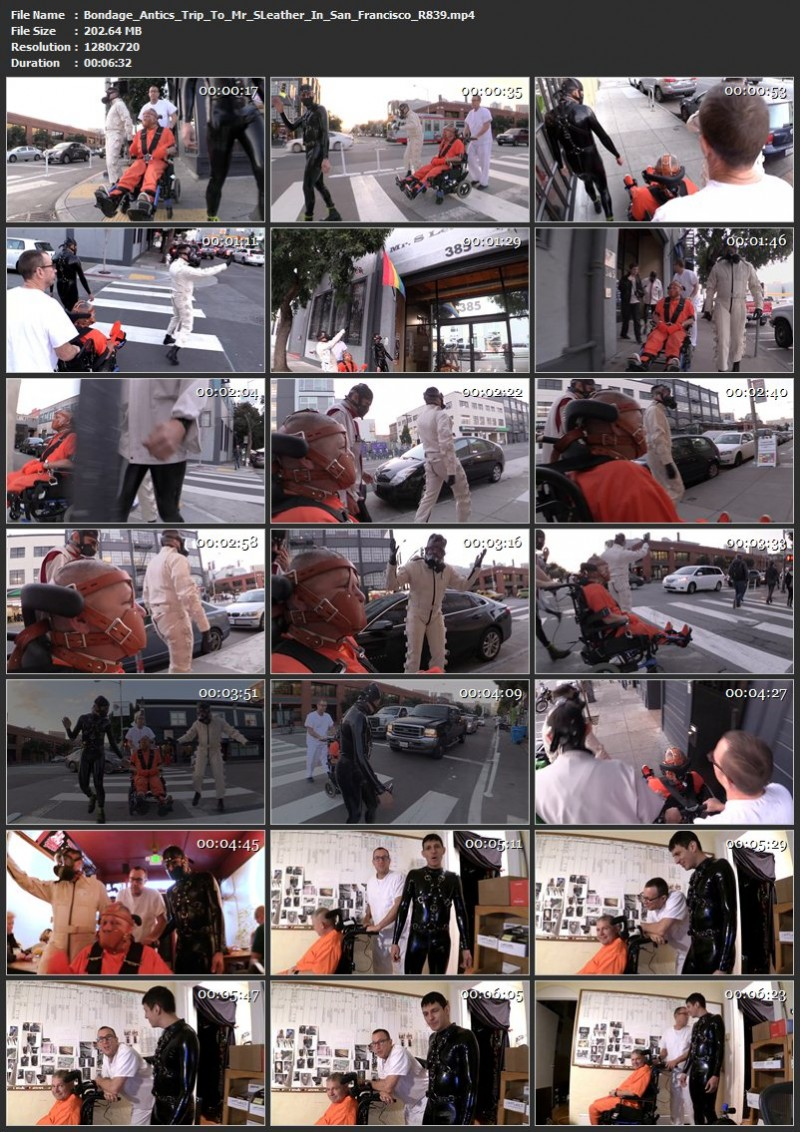 Bondage Antics – High Speed Mummification And Trip To Mr. S Leather In San Francisco (R839). Jun 16 2018. Seriousmalebondage.com (664 Mb)
