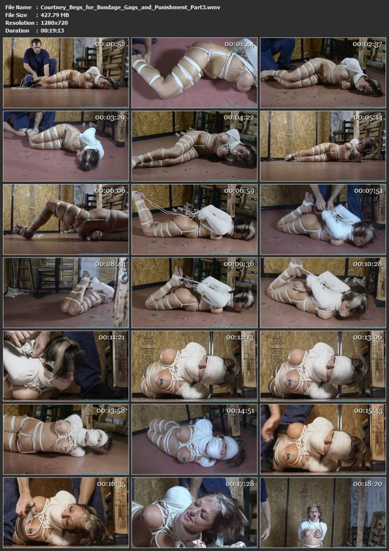 Courtney Begs for Bondage, Gags, and Punishment. Futilestruggles.com (1438 Mb)