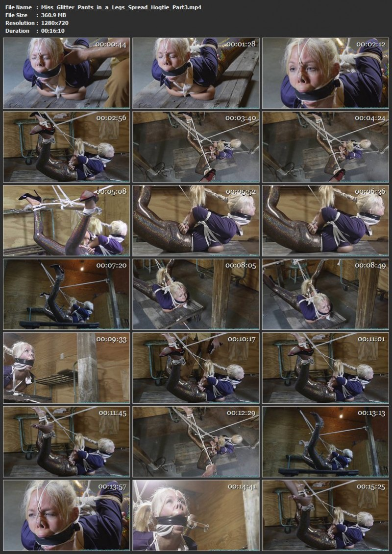 Miss Glitter Pants in a Legs Spread Hogtie. Futilestruggles.com (1286 Mb)