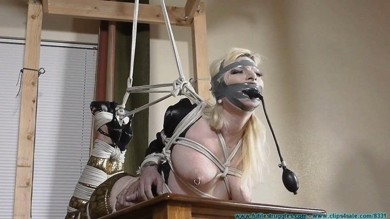 Olivia Rose Hogtied and Pump Gagged Tight. Futilestruggles.com (1295 Mb)
