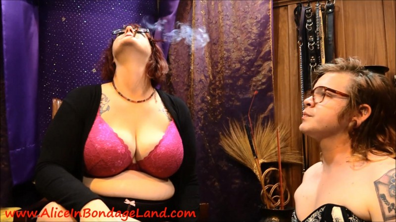 Handrolled Smoking Human Ashtray – Domina Jenna Rotten. Apr 20 2018. AliceInBondageLand.com (589 Mb)