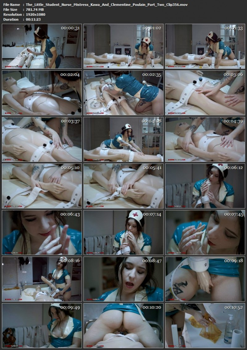 The Little Student Nurse – Mistress Kawa And Clementine Poulain Part Two (Clip356). May 04 2018. Clinicaltorments.com (781 Mb)