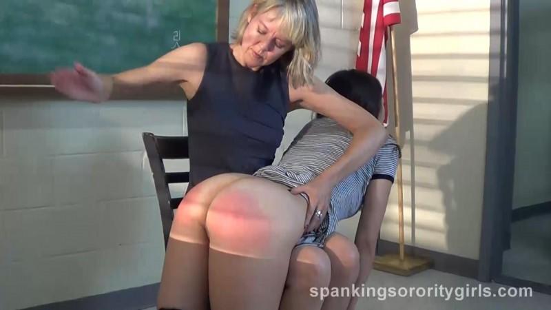 Judy Jolie Spanked in Classroom – Judy Jolie, Clare Fonda, Episode 156. SpankingsororityGirls.com (152 Mb)