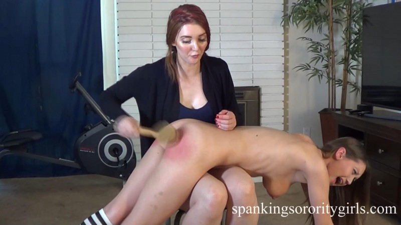 Veronica Spanks Chrissy Marie – Pledge Veronica Ricci, Chrissy Marie, Episode 170. SpankingsororityGirls.com (357 Mb)