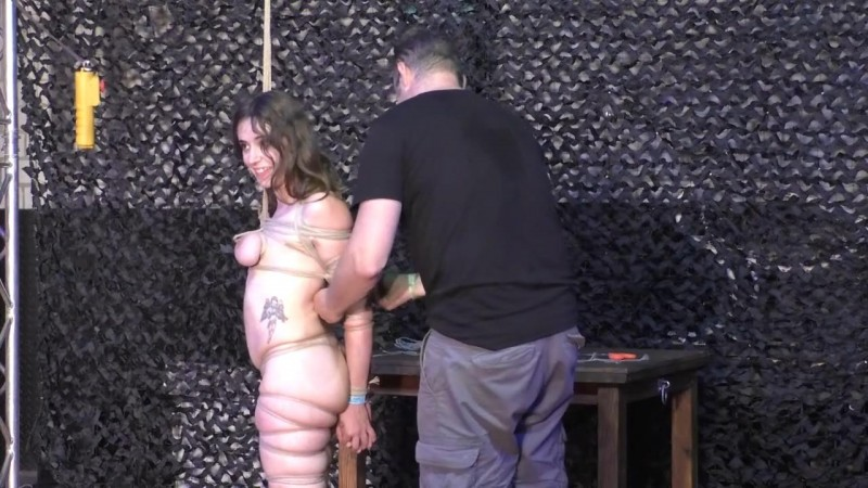 Another public Breast Suspension for Little Red Girl (bip093). Aug 18 2018. Breastsinpain.com (652 Mb)