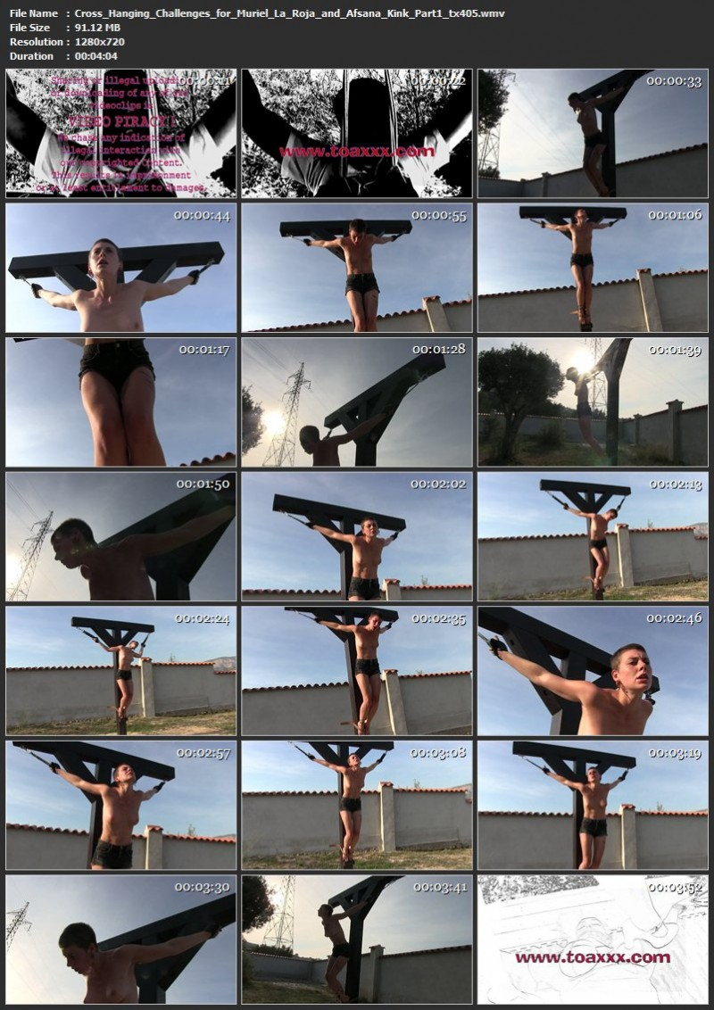 Cross Hanging Challenges for Muriel La Roja and Afsana Kink (tx405). Oct 30 2018. Toaxxx.com (305 Mb)