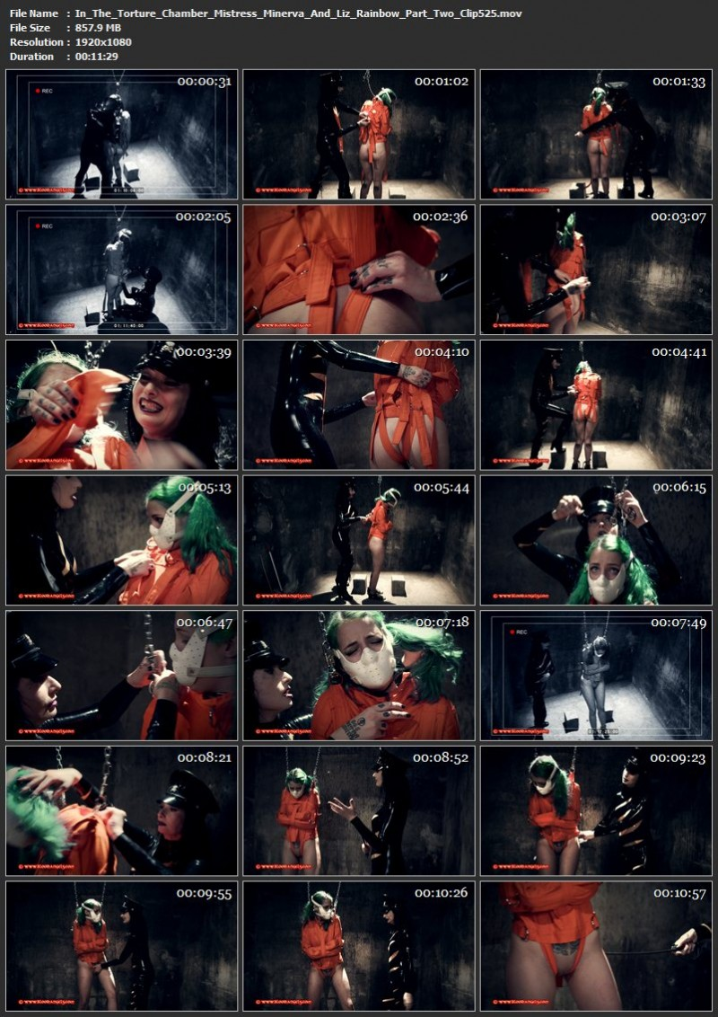 In The Torture Chamber – Mistress Minerva And Liz Rainbow Part Two (Clip 525). Aug 13 2018. Bloodangels.com (857 Mb)