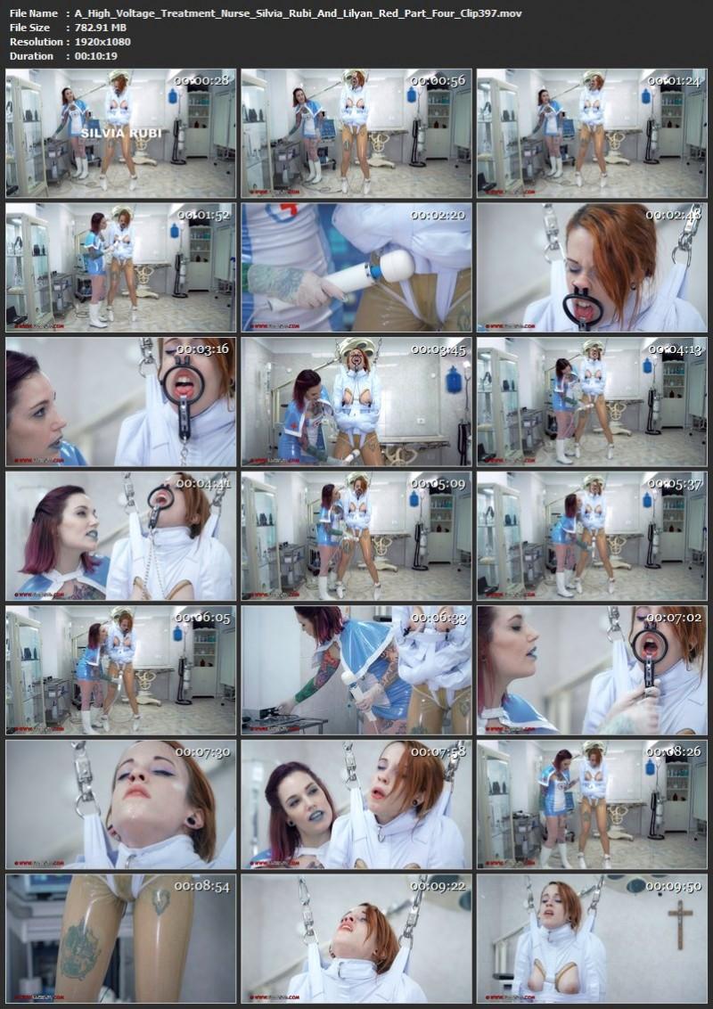 A High Voltage Treatment – Nurse Silvia Rubi And Lilyan Red Part Four (Clip397). Jul 07 2019. Clinicaltorments.com (782 Mb)