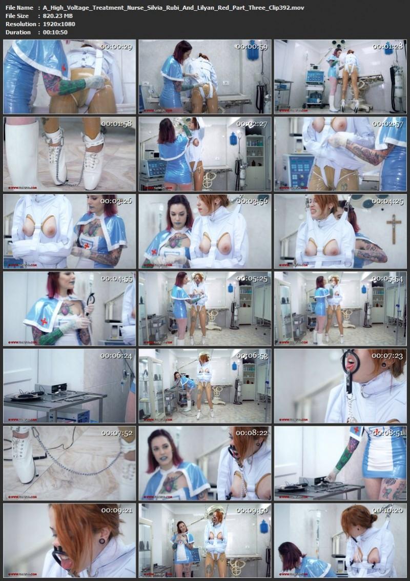A High Voltage Treatment – Nurse Silvia Rubi And Lilyan Red Part Three (Clip392). May 03 2019. Clinicaltorments.com (820 Mb)