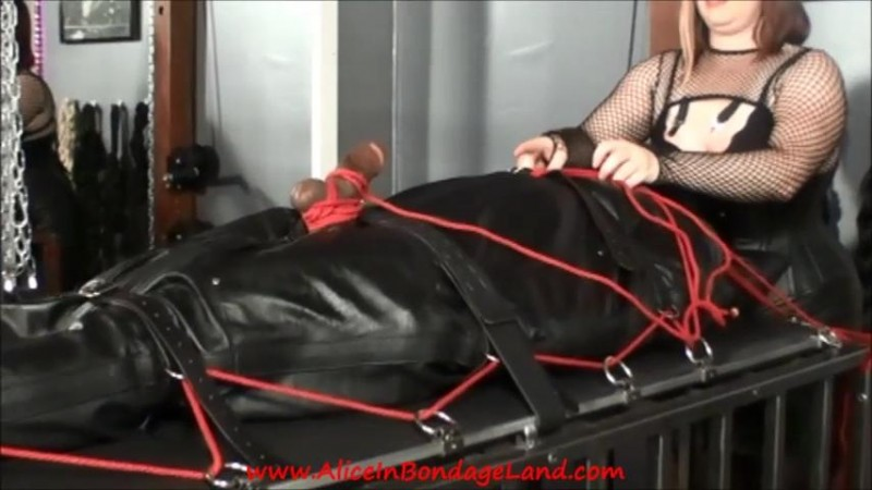 Ebony Muscleman Leather Sleepsack Bondage Femdom Cbt Handjob. May 13 2019. Aliceinbondageland.com (1077 Mb)