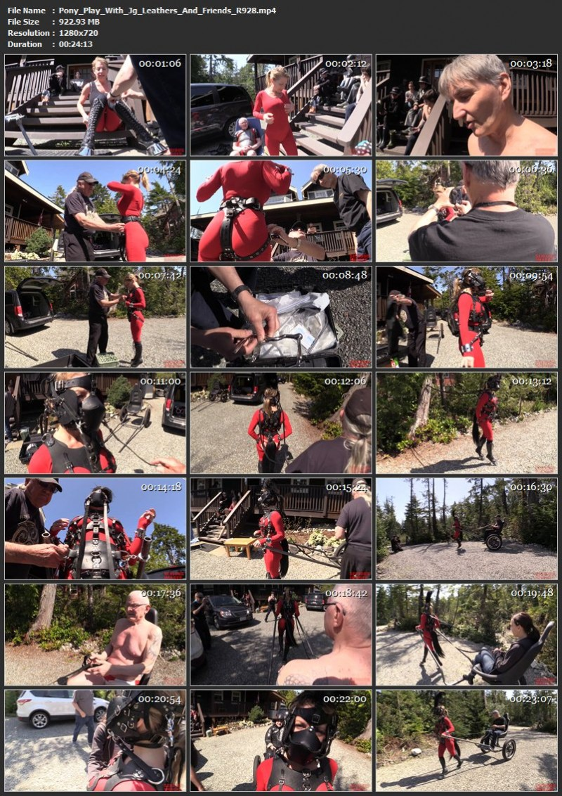Pony Play With Jg-Leathers And Friends (R928). May 30 2019. Seriousimages.com (922 Mb)