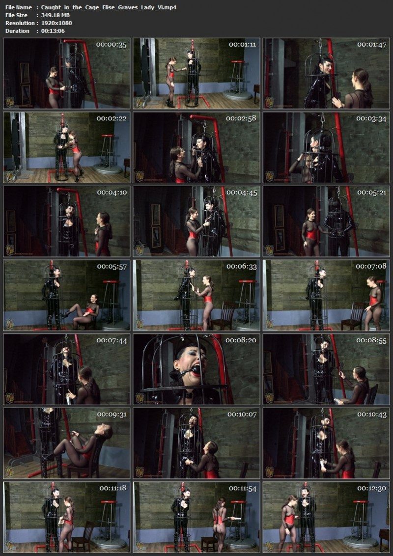 Caught in the Cage – Elise Graves, Lady Vi. 05 Apr 2019. Houseofgord.com (349 Mb)