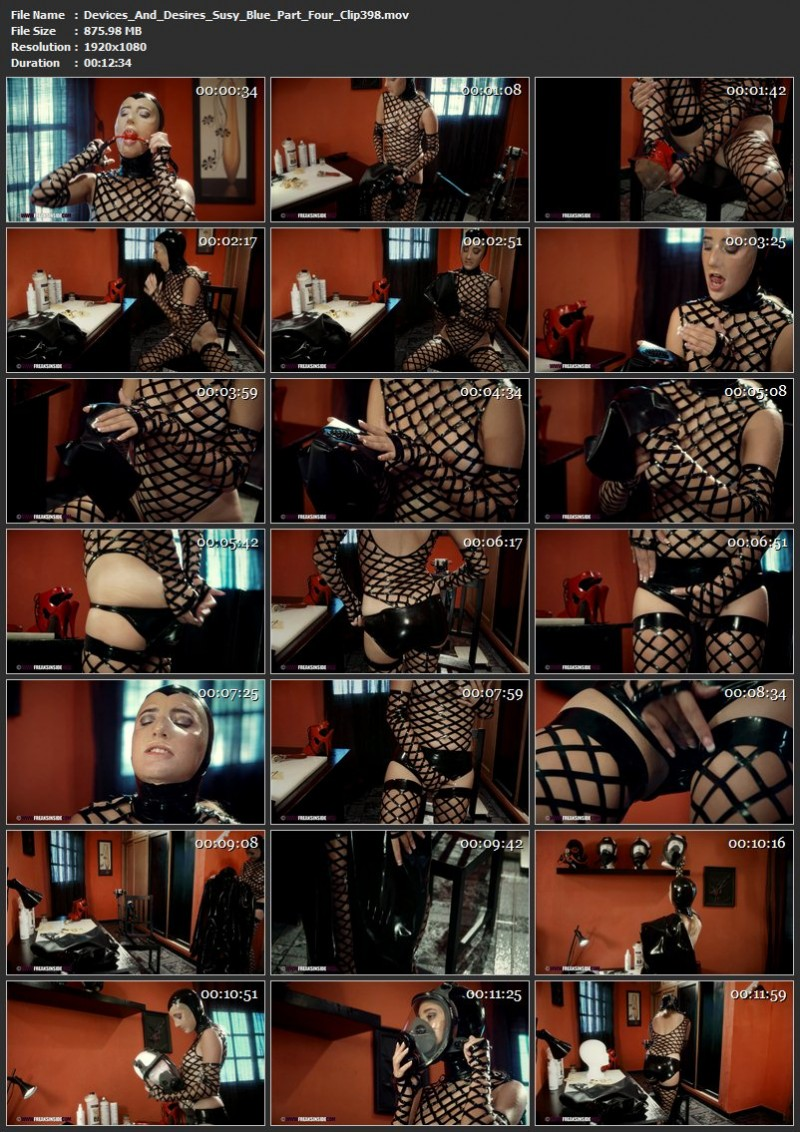 Devices And Desires – Susy Blue Part Four (Clip398). Apr 28 2019. Freaksinside.com (875 Mb)