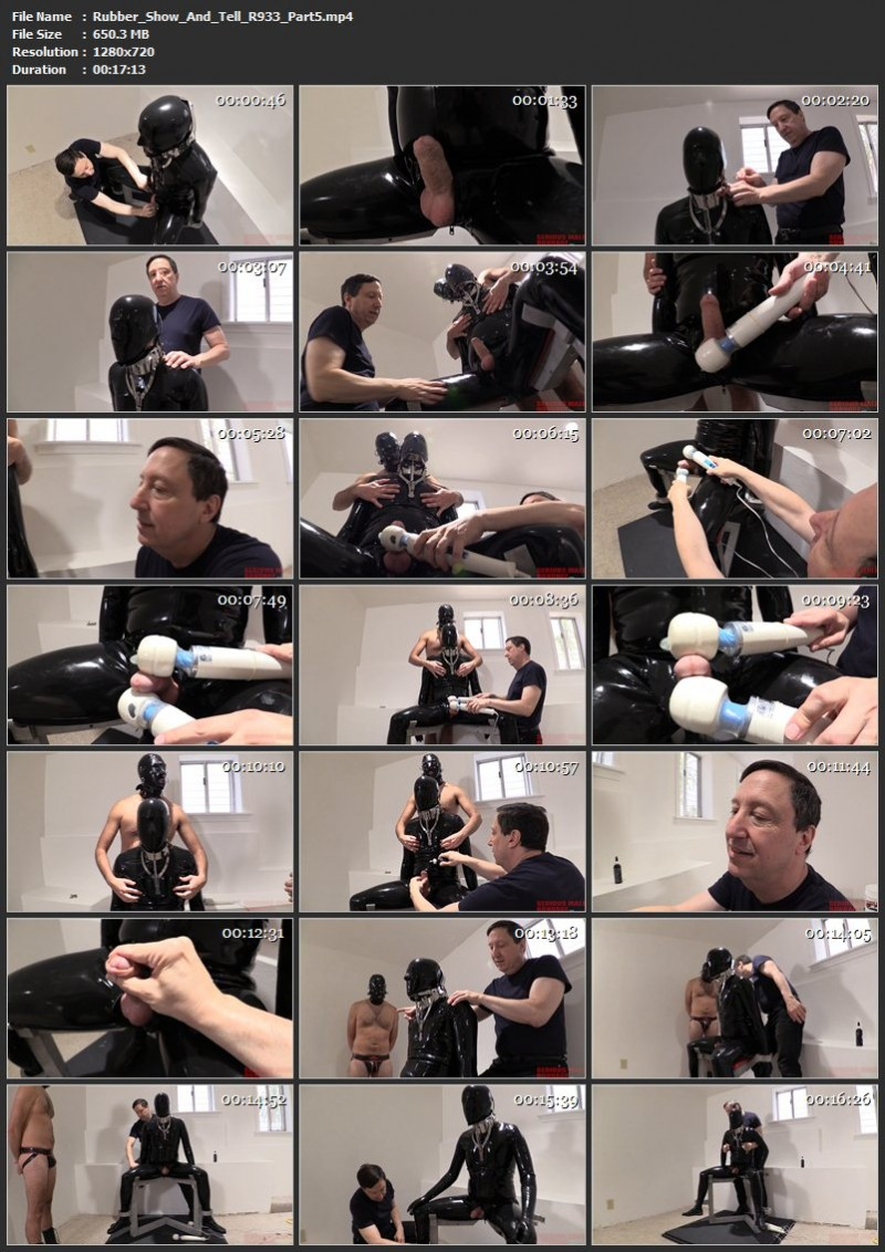 Rubber Show And Tell (R933). Jul 24 2019. Seriousmalebondage.com (1494 Mb)