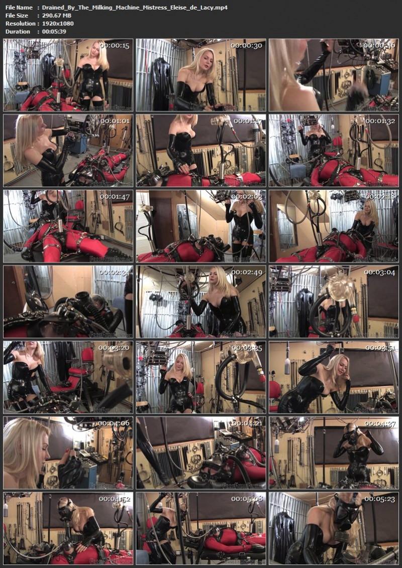 Drained By The Milking Machine – Mistress Eleise de Lacy. 27 Aug 2019. femmefatalefilms.com (290 Mb)