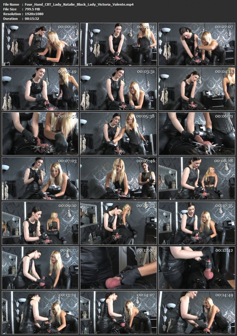 Four Hand CBT – Lady Natalie Black, Lady Victoria Valente. 30 Oct 2019. femmefatalefilms.com (799 Mb)