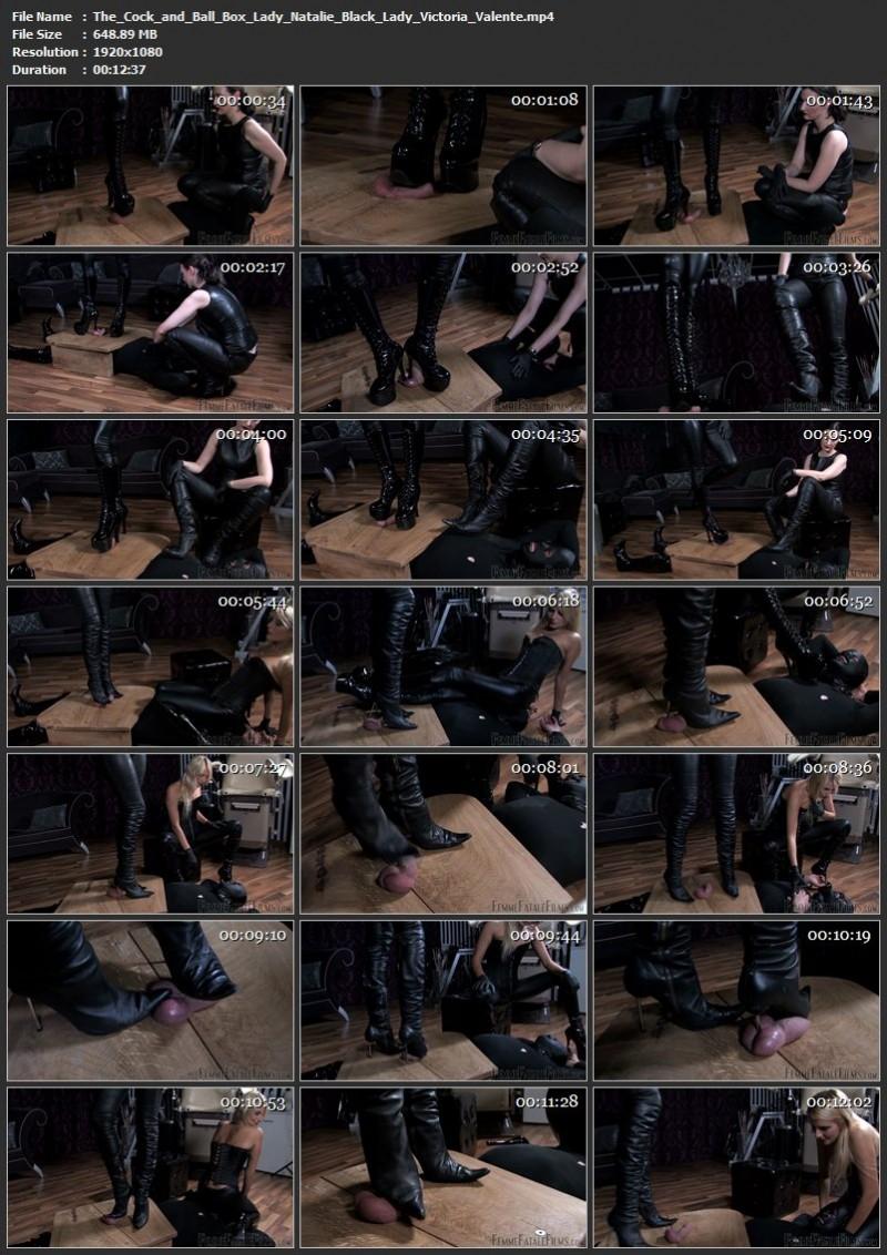 The Cock and Ball Box – Lady Natalie Black, Lady Victoria Valente. 16 Apr 2019. femmefatalefilms.com (648 Mb)
