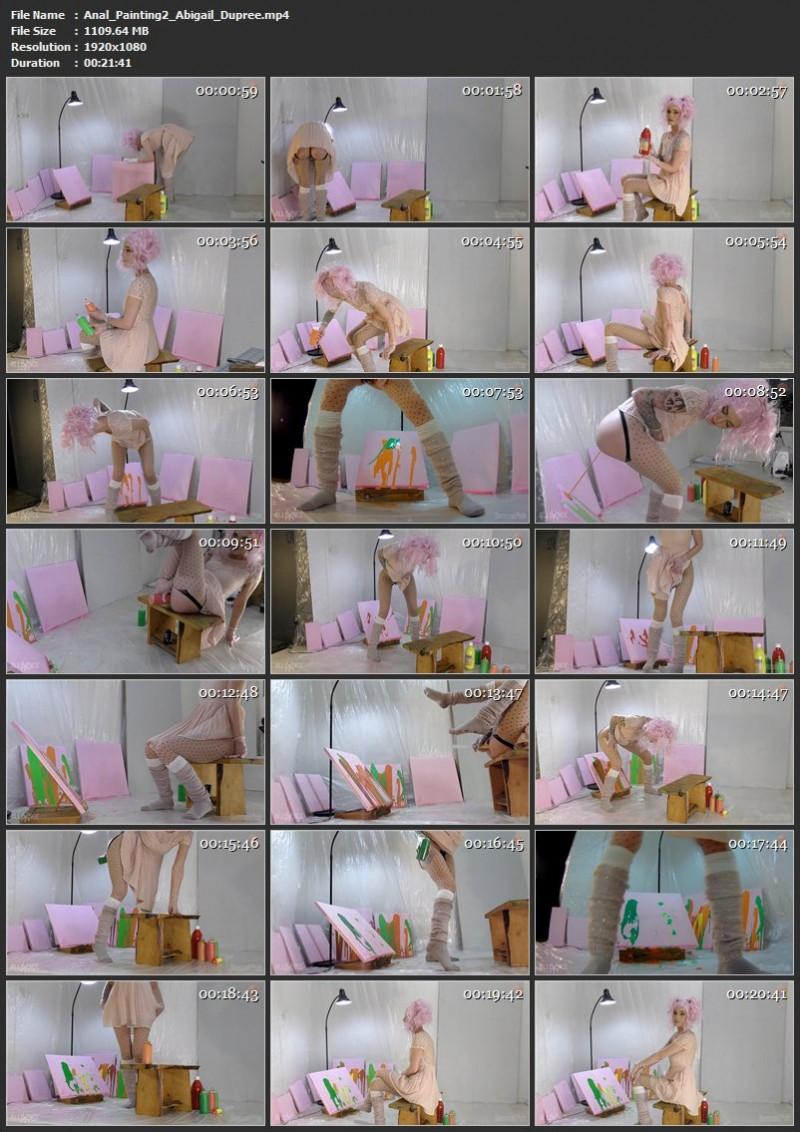 Anal Painting 2 - Abigail Dupree. Mar 06 2019. Sensualpain.com (1109 Mb)