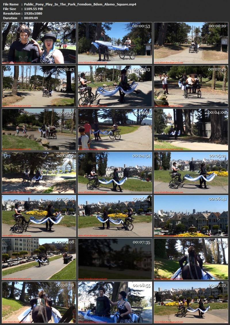Public Pony Play In The Park – Femdom Bdsm Alamo Square. Oct 14 2019. Aliceinbondageland.com (1109 Mb)