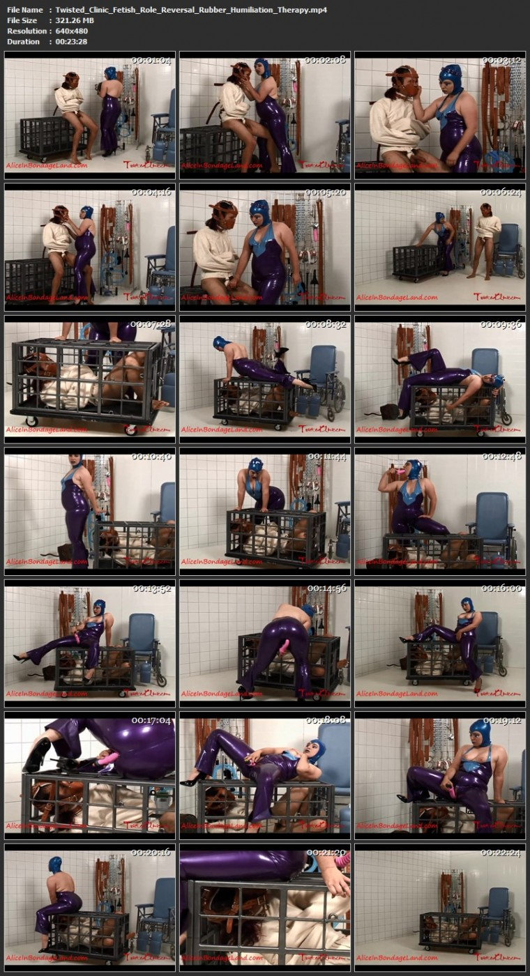 Twisted Clinic - Fetish Role Reversal Rubber Humiliation Therapy. Feb 24 2020. Aliceinbondageland.com (321 Mb)