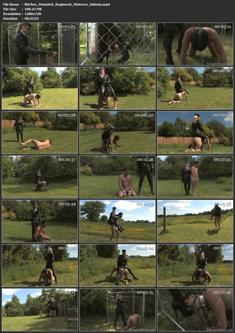 Bitches Mounted Regiment - Mistress Sidonia. Theenglishmansion.com (500 Mb)